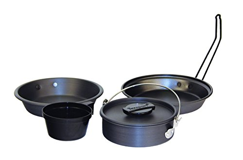 (Texsport Pathfinder Camping Cookware Black Ice Hard Anodized Mess Kit)