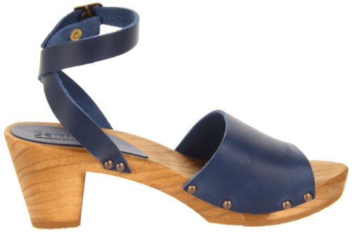 Wood mujer Sandalias Yara 457357 Sanita 14 Azul de cuero para STqFd