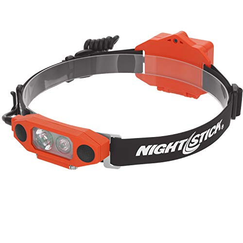 Nightstick XPP-5462RX X-Series Intrinsically Safe Low-Profile Dual-Light Headlamp, Red