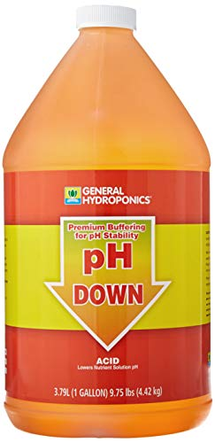 General Hydroponics HGC722125 pH Down Liquid Premium Buffering For pH Stability, 1-Gallon