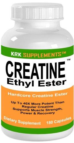 Créatine Ethyl Ester HCL 1200mg 180 Capsules CE2 développement musculaire servant SUPPLEMENTS KRK