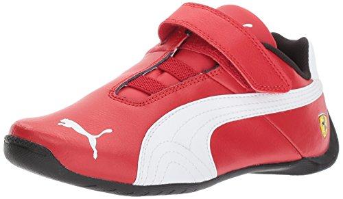 PUMA Baby Ferrari Future Cat Velcro Kids Sneaker, Rosso Corsa White, 4 M US Toddler