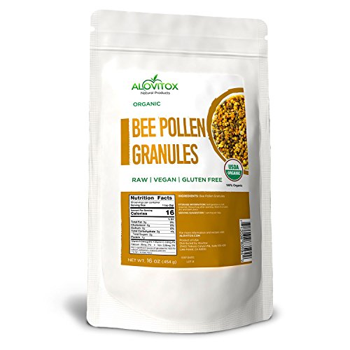 Cheap ALOVITOX USDA Certified Organic Pure Natural Bee Pollen, 16 oz Bag