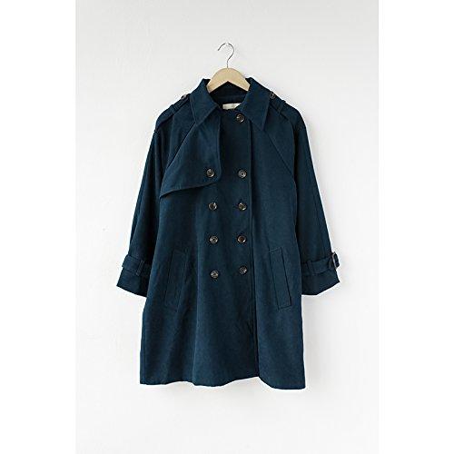 Largo Long Azul Abrigo Cubra Suelto Anorak S Sleeved Femenino Mujer XXIN PSatAw