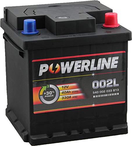 002L / 202 Powerline Car Battery 12V 40Ah:
