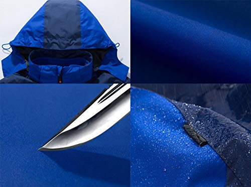 Unisex Unisex Camping L Travel Giallo Impermeabile Jackets Dimensioni Impermeabile Colore Colore Colore ZJEXJJ Sportswear Outdoor Due Mountaineer Giacca Hooded Pezzi 51gWPawznq
