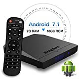 Kingbox Android TV Box, K3 Android 7.1 Box with Amlogic S912 Octa-Core 64 Bits 2GB/16GB Support Dual WiFi 2.4+5GHz/BT 4.0/4K/3D/1000M LAN Android Smart TV Box [2018 Latest Version]
