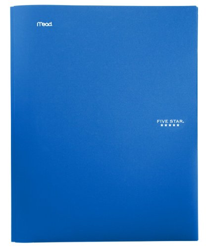 (Five Star 2-Pocket Folder, Stay-Put Folder, Folders with Pockets, Blue (72115))