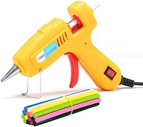 ビズアイ 50色の接着剤が付いているホットメルトの接着剤銃は40W急速加熱技術を貼り付けます - DIYの小さい芸術品の技術のための技術のシールおよび速い修理(黄色) ホットグルーガン