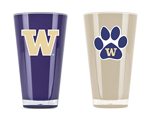 NCAA Washington Huskies 20oz Insulated Acrylic Tumbler Set of 2