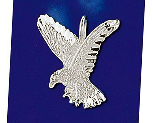 Sterling Silver Hawk Pendant Falcon Eagle Design Italian Charm Solid 925 Vintage Crafting Pendant Jewelry Making Supplies - DIY for Necklace Bracelet Accessories by CharmingSS