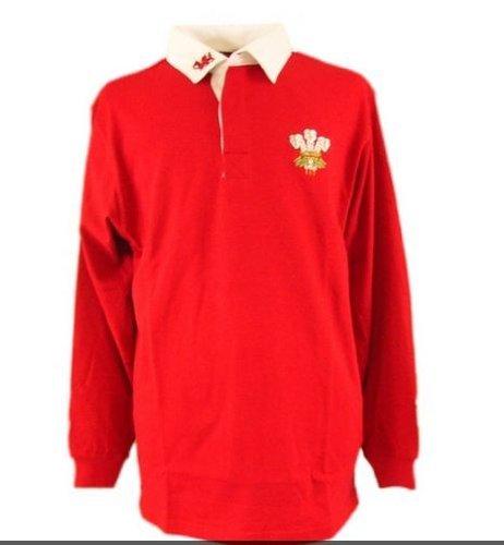 welshsuperstore Welsh Gifts Rugbyshirt langärmlig (groß)