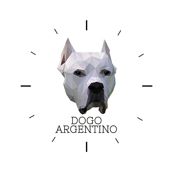 Dogo Argentino, Wall Clock with an Image of a Dog, Geometric 3
