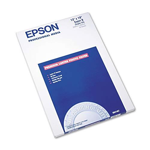 Epson Ultra Premium Photo Paper, 64 lbs, Luster, 13 x 19, 50 Sheets/Pack (Paper Ultra Epson Luster Photo)