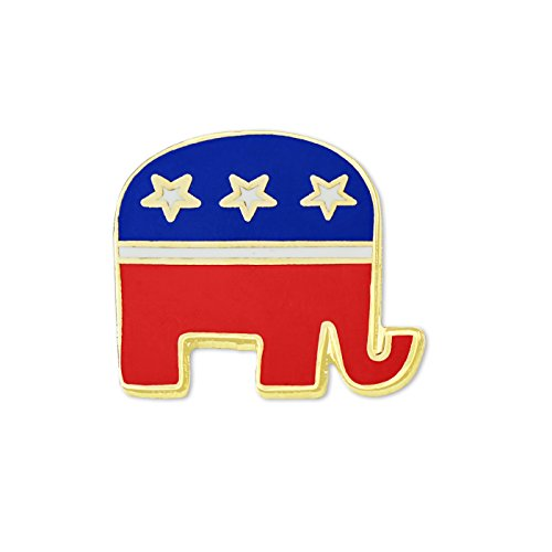 Republican Party Elephant Political Lapel Pin