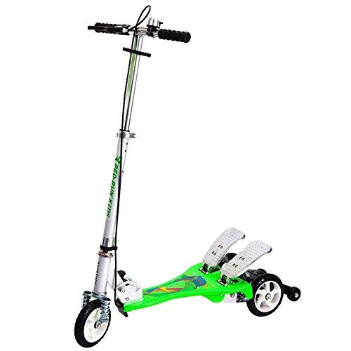 Bike Rassine PRK-GN Kid's Ped-Run Dual Pedal Scooter, Green, 29