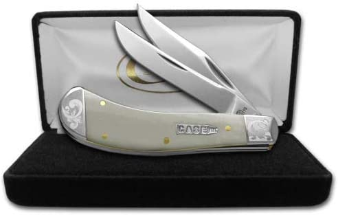 CASE XX Smooth Natural Bone Scrolled Saddlehorn 1 300 Stainless Pocket Knife Knives