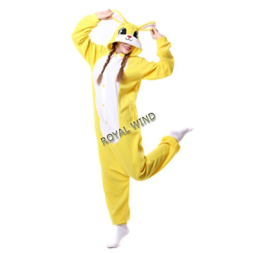 Winnie The Pooh And Piglet Couple Costume (Pajamas Rabbit Animal Sleepwear Halloween Polar Fleece Kigurumi For Unisex M)
