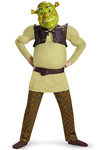 Disguise Shrek Classic Muscle Costume, Large (10-12) (Shrek Halloween Costumes)
