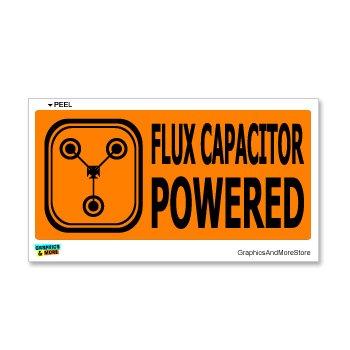 Powered Flux Capacitor Window Sticker