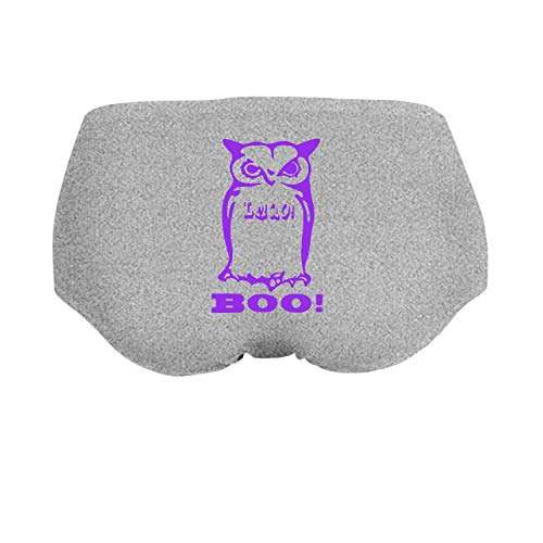 Halloween Funny Trick Or Treat Cute Owl Clipart Brief Panties Underwea Girl's Low-Waist Stretch]()