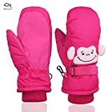 YR.Lover Kids Ski Mittens Thinsulate Lined Gloves Snow Outdoor Winter Sports For Snowboarding,Kids Skiing