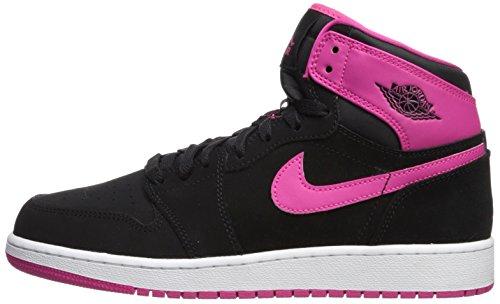 new style 28a8c b5979 Jordan Nike 332148-008 Kids Air 1 Retro High GG Black Vivid Pink ...
