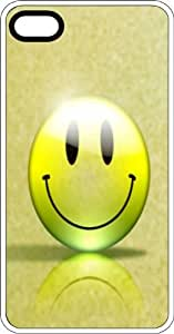 Happy Organic Smiley Face White Plastic Case for Apple iPhone 5c