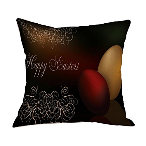 2017 Easter's Day Pillow Case,Elevin(TM)New Painting Square Cotton Cushion Cover Throw Waist Pillow Case Sofa Bedroom Home Decor Good Easter's Gift (M) (C)