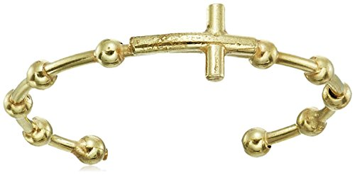 14k Italian Yellow Gold Rosary Ring, Size 7 14k Yellow Gold Rosary Ring