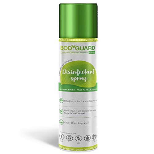 BodyGuard Disinfectant Sanitizer Spray for Multi-Surfaces, Alcohol Based – 300 ml