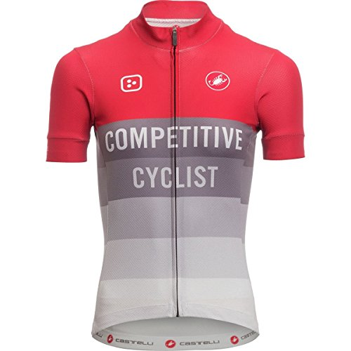 検出可能不倫人形Castelli Competitive Cyclist Club Jersey – Women 'sレッド/グレー、L