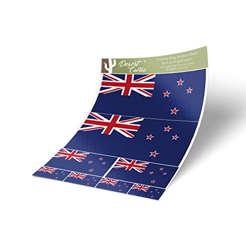 Desert Cactus New Zealand Country Flag Sticker Decal Variety