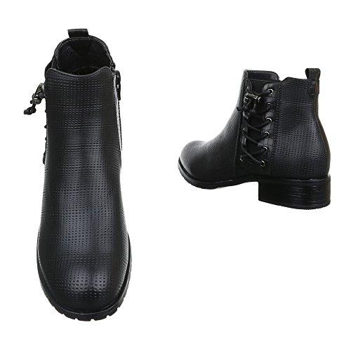 Ital-Design - Botas Chelsea Mujer negro
