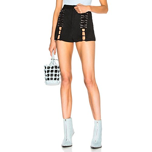 認識スロー鼓舞する(ミュグレー) Mugler レディース ボトムス?パンツ ショートパンツ Suede Lace Up Shorts [並行輸入品]