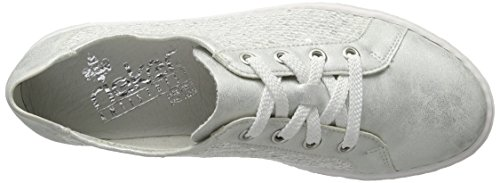Rieker Women's L0900 Low-Top Sneakers, Weiß (Ice/White-Silver/80), 5 UK Grey (Ice/Silber / 80)