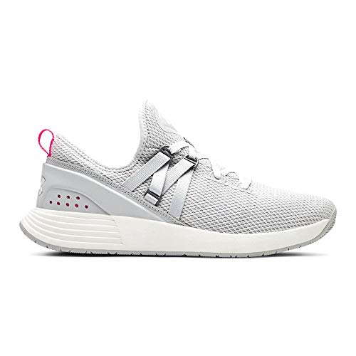 Under Armour Women's Breathe Trainer Sneaker, Gray Flux (100)/White, 8.5 M US