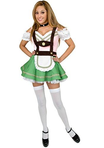 Charades Women's Bavarian Beer Garden Girl Costume, -