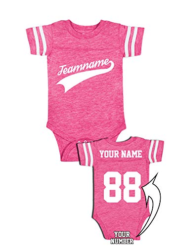 Custom Cotton Outfits for Babies - Baseball Add Your Name Number Team Apparel Baby Onesies & Jerseys Hot ()