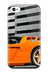 Durable Protector Case Cover With Orange Car In An Underground Parking Hot Design For Iphone 4/4s