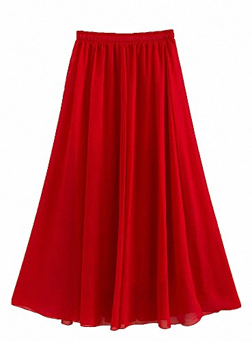 e6a3b93f9f Afibi Womens Chiffon Retro Long Maxi Skirt Vintage Dress | Weshop ...