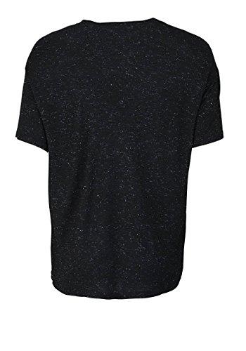 drykorn Kurzarm T-Shirt Kayla Rundhals Statement-Print Schwarz