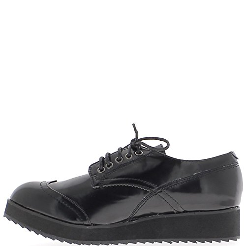 with Soles Woman Thick Black Derbies n8g7PSpxwq