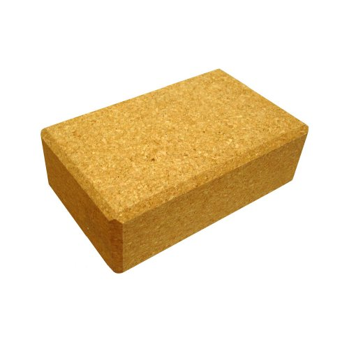 YogaDirect Cork Yoga Block, 3 Inch