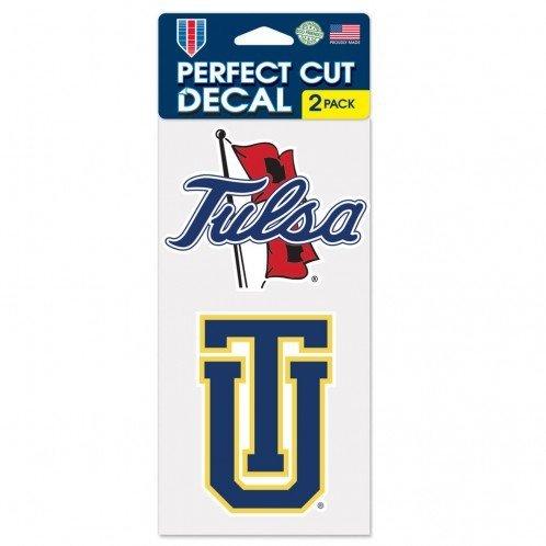 (WinCraft NCAA University of Tulsa Perfect Cut Decal (Set of 2), 4