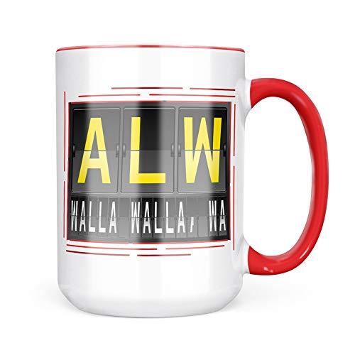 Neonblond Custom Coffee Mug ALW Airport Code for Walla Walla, WA 15oz Personalized Name