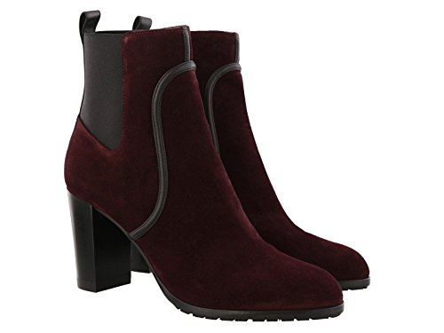 sergio-rossi-womens-burgundy-leather-fabric-ankle-boots-booties-shoes-size-41-eu