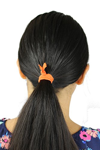 Amazon.com   Pack of 25 Elastic Ribbon Hair Ties - No Crease Ouchless  Ponytail Holders Hair Accessories (Variety Colors)   Beauty 5aa871bcfef