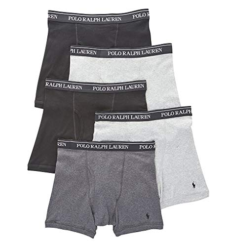 Polo Ralph Lauren Men's Classic Fit w/Wicking 5-Pack Boxer Briefs 2 Andover/1 Madison/2 Black Small (Ralph Lauren Mens Brief Underwear)