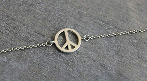 (Peace Sterling Silver Charm Bracelet)